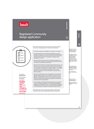 Boult Registered Community Design Application