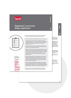 Boult Registered Community Design Application