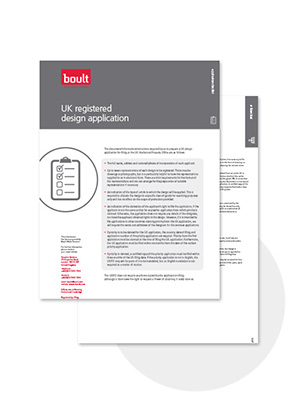 Boult UK Registered Design Application