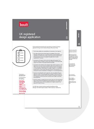 Boult UK Registered Design Application