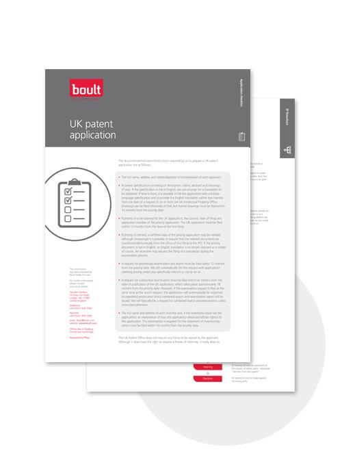 uk patent application