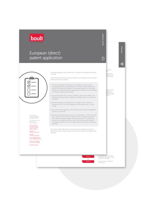 european direct application