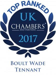 top ranked chambers uk 2017 award